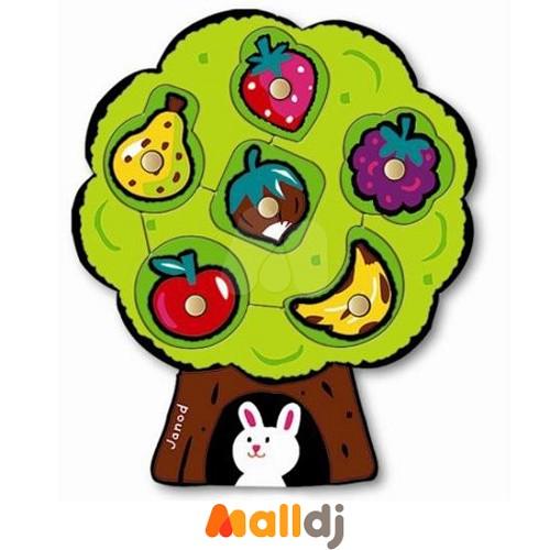 法国janod 水果树木头拼图