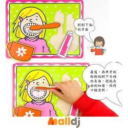正确刷牙方法简笔画