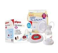 貝親 PIGEON 新超靜音電動吸乳器 護敏防溢乳墊102片 組