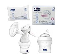 Chicco 天然母感手動吸乳器 特惠組 買1送3
