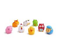 MUNCHKIN 動物農場噴水洗澡玩具8入