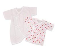 GMP BABY 日製草莓肚衣 毛巾兔裝 兩枚組
