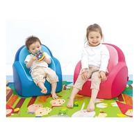 韓國康樂 Dwinguler 兒童單人沙發 藍色