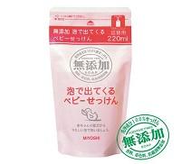 MIYOSHI 無添加嬰幼兒泡沫沐浴乳補充包220ml