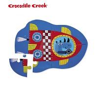 美國 Crocodile Creek 迷你 拼圖系列~犀牛火箭