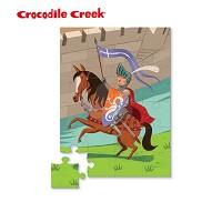 美國 Crocodile Creek 迷你 拼圖系列~城堡騎士