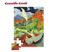 美國 Crocodile Creek 迷你 拼圖系列~侏儸紀公園