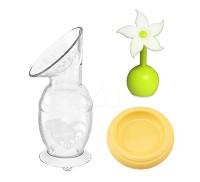 紐西蘭 Haakaa 100ML 新手媽媽 3件組 真空集乳瓶 小花瓶塞 防塵蓋