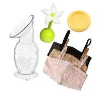 紐西蘭 Haakaa 100ML 遠離媽媽手輕鬆4件組 集乳器 小花瓶塞 防塵蓋 內衣 ~