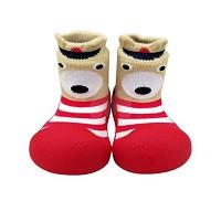 韓國 BigToes 幼兒襪型學步鞋~亮紅高帽熊